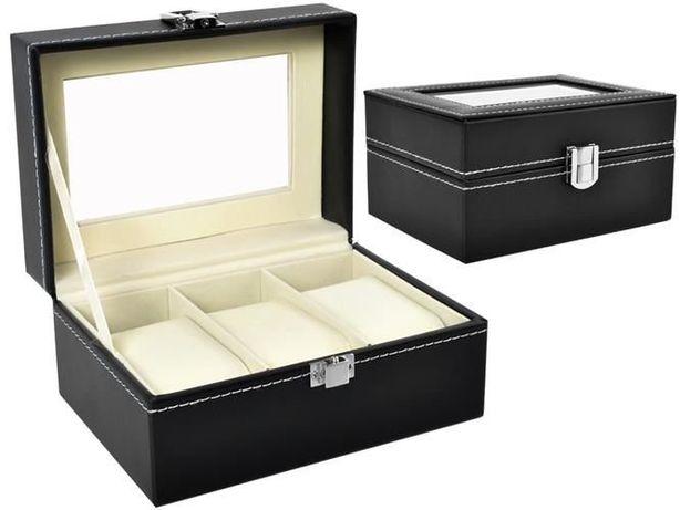 Органайзер шкатулка бокс для часов 3 отделения коробка для годинників