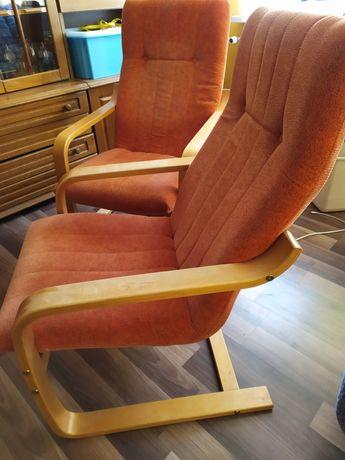 2 sztuki Fotel finka bujany pomarańczowy fotele krzesło
