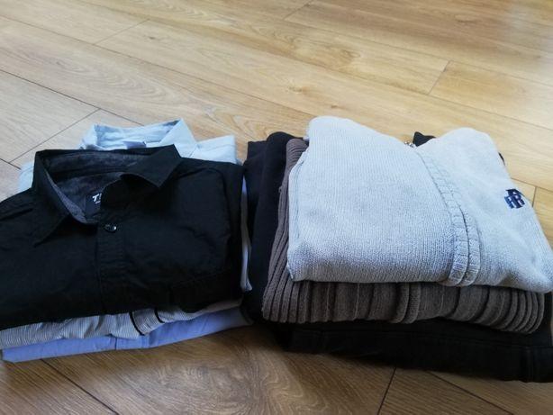 Zestaw paka ubrań chłopięcych 152 - 158 + kurtka