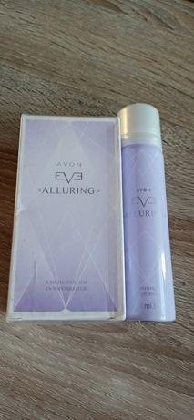 Avon zestaw Eve Alluring woda perfumowana dezodorant plus torebka