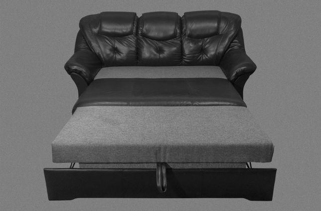 Кожаный Диван - Раскладной. Мягкая мебель.