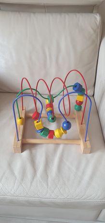 Drewniana Mula przekładana zabawka
