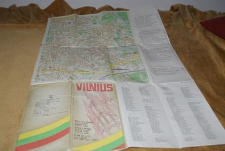 Wilno Vilnius mapa Wilna
