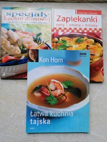 3 książeczki kulinarne z pomysłowymi przepisami .