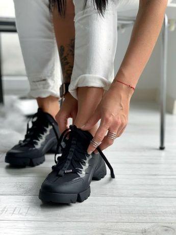 Женские Диор Кроссовки Dior D-Connect Sneaker Black/Последний 36