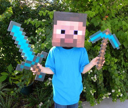 Minecraft Майнкрафт Паперкрафт Инструменты Ожерелье 3 вида бонусы