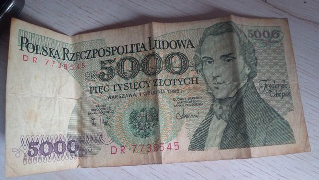 Banknot z 1988 sprzedam