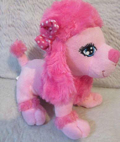 Maskotka Różowy pudel pudelek pies piesek 20cm