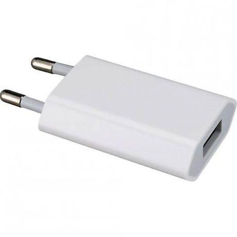 Carregador iPhone 5V USB Branco - Novo - Sem Cabo - OEM