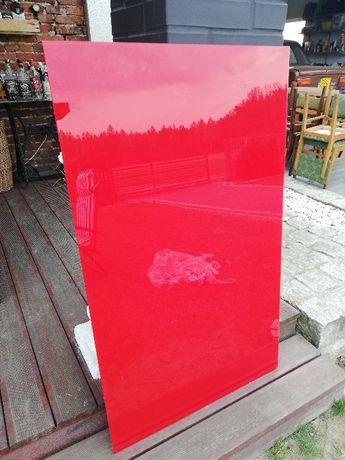 szkło czerwone lacobel formatka 1160mm x 695mm