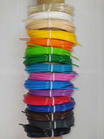 Пластик PLA (ПЛА) для 3d ручки, 10 кольорів по 10 метрів
