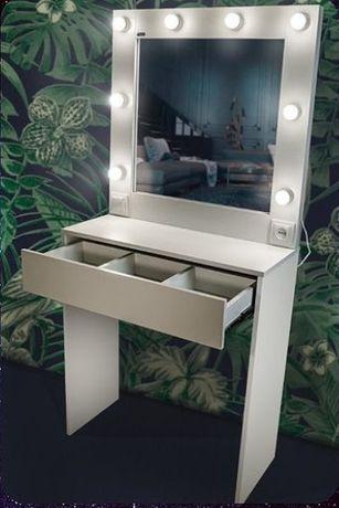 Акция! Туалетный гримерный столик с зеркалом с лампочками для макияжа!