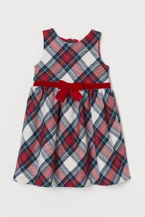 Nowa sukienka H&M czerwona kokarda elegancka 134 Magnuszew - image 1