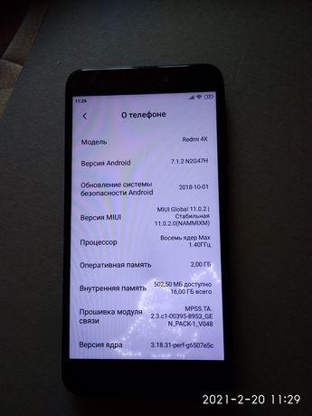 Xiaomi redmi 4x   2/16 гб.