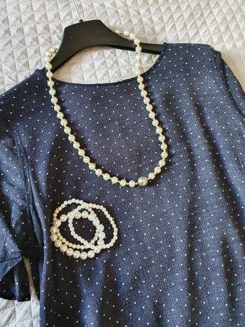 Zestaw naszyjnik korale + 3 bransoletki perłowe nowe