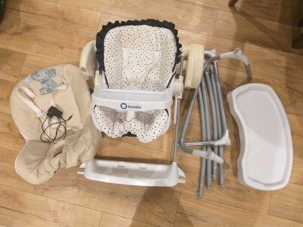 3w1: Huśtawka, leżaczek, krzesełko do karmienia