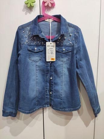 Nowa koszula jeansowa dla dziewczynki 134/140