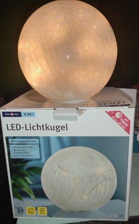 """Светодиодный LED светильник """"Шар""""20 см с таймером IDEEN WELT"""