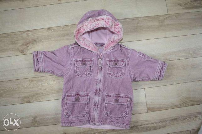 Płaszcz/kurtka zimowa dziewczęca NEXT 6-9 miesięcy.