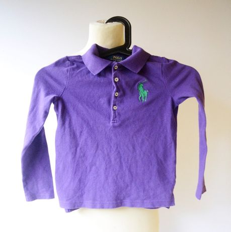 Koszulka Polo Fioletowa Ralph Lauren 6 lat 116 cm Bluzka RL Fiolet