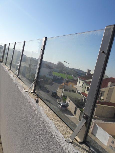Vedação vidro terraço