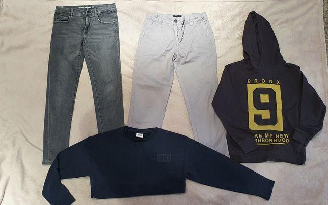 Zestaw markowych ubrań dla chłopca rozmiar.140 stan BDB