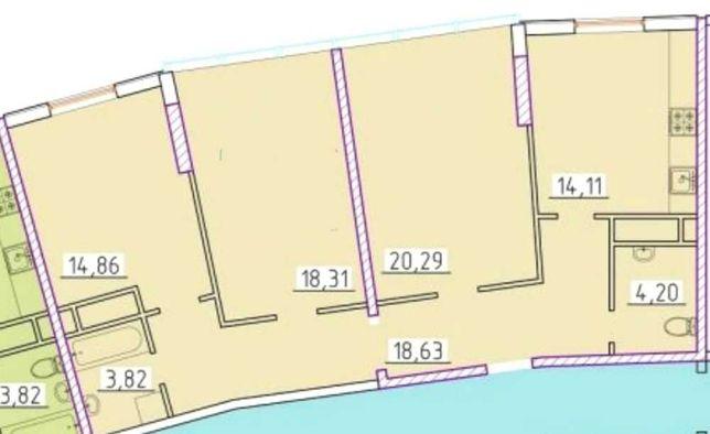 3 комнатная ЖК 42 Жемчужина на Генуэзской. Аркадия. Супер Цена!
