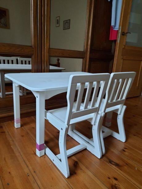 Do sprzedania stolik + 2 krzesła dla dzieci