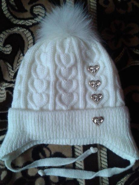 Тёплая шапочка 52-54р.