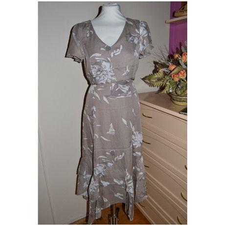 653*bonprix sukienka żorżeta 44/46