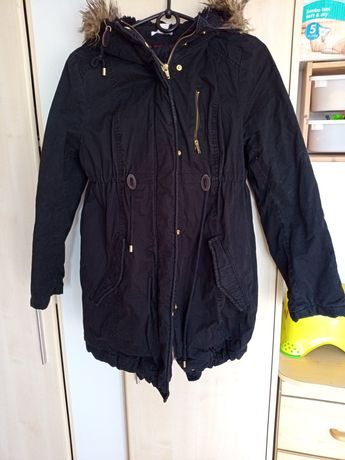 Kurtka ciążowa hm H&M mama czarna zimowa