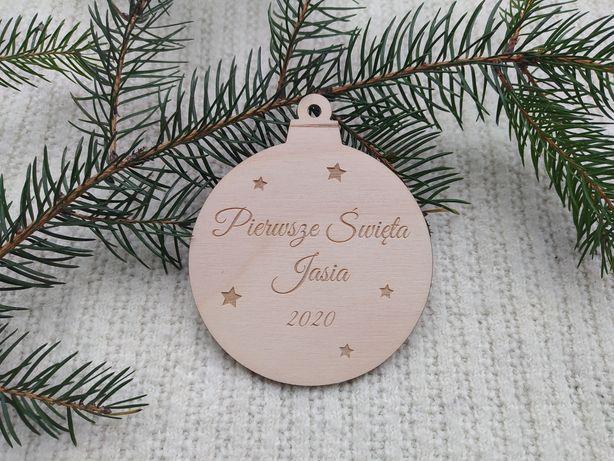Personalizowana bombka bożonarodzeniowa Pierwsze święta +dowolne imię.