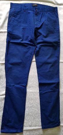Spodnie klasyczne materiałowe 30/32 atramentowe