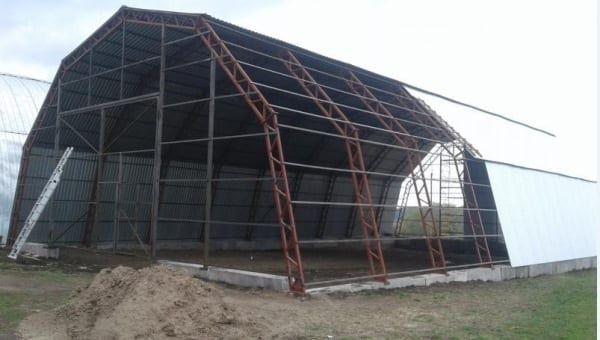 Ангар, металокаркас, промислові приміщення від 1500гр