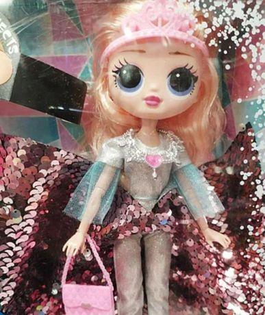 Кукла для детей в блестящем платье, Айсберг с подсветкой Новая кукла