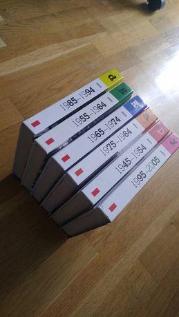 6 Albumów ze zdjęciami DEKADY lata od1945 do 2005 6 tomów + 6 płyt CD