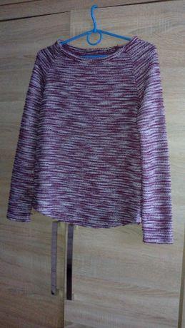Śliczny sweterek odcień bordowo-biały New Look Rozmiar 6/xs