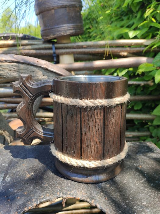 Бокал, Бокал деревяний, wooden mugs, mug, Бокал деревянный кружка, чаш Черновцы - изображение 1