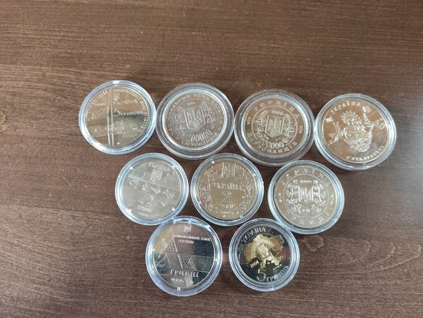 Украинская юбилейка 2 и 5 грн разные года