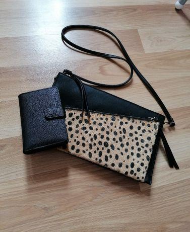 Torebka + portfel Mohito panterka kopertówka listonoszka portfel Sinsa
