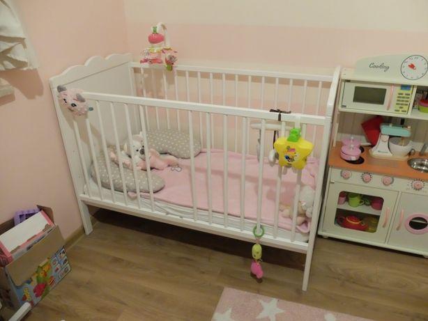 Klupś Marsell łóżeczko dziecięce białe 120X60