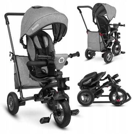 Wózek spacerowy rowerek trójkołowy 2 w 1 LIONELO TRIS obracany do 25kg