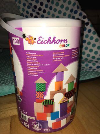 Klocki drewniane Eichhorn 100 elementów