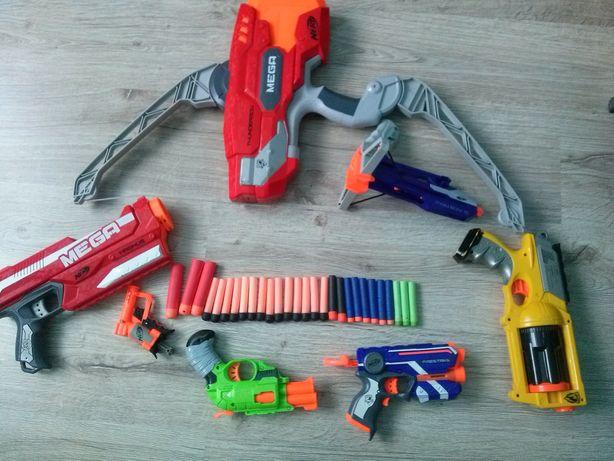 Nerf, Boom.co, pistolety, łuk.