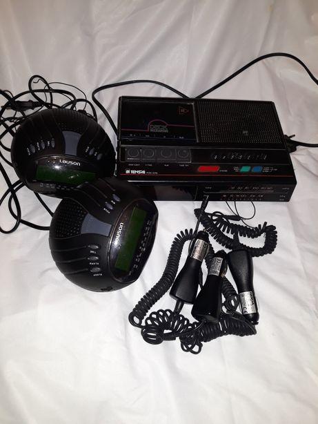 2€ por cada rádio, vendo 3 rádios e 3 isqueiros de carro