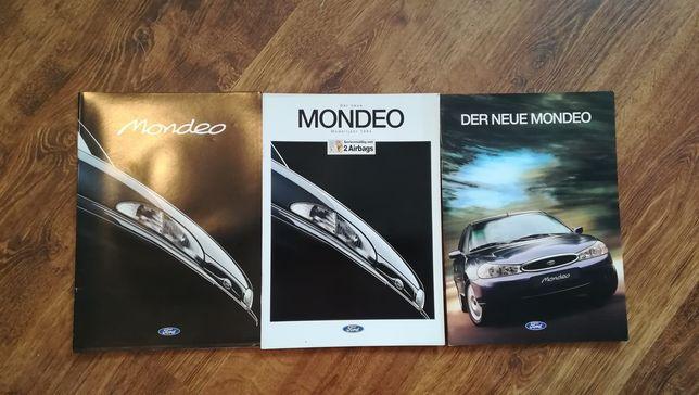 Ford Mondeo (Mk1, Mk2) Prospekty 3 szt.