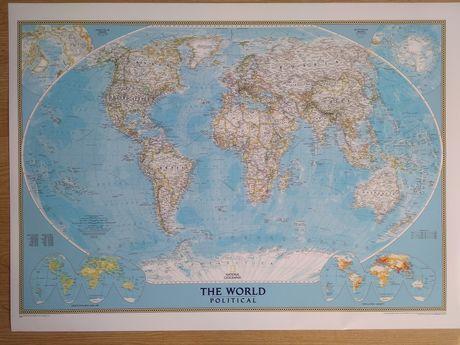 Политическая карта мира на английском.