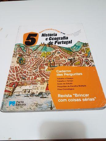Historia  e Geografia de Portugal  5 ano Caderno de perguntas