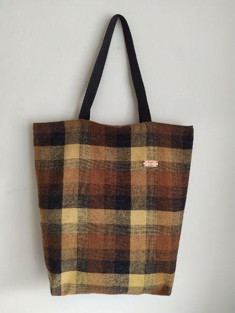 Bawełniana torebka typu shopper handmade