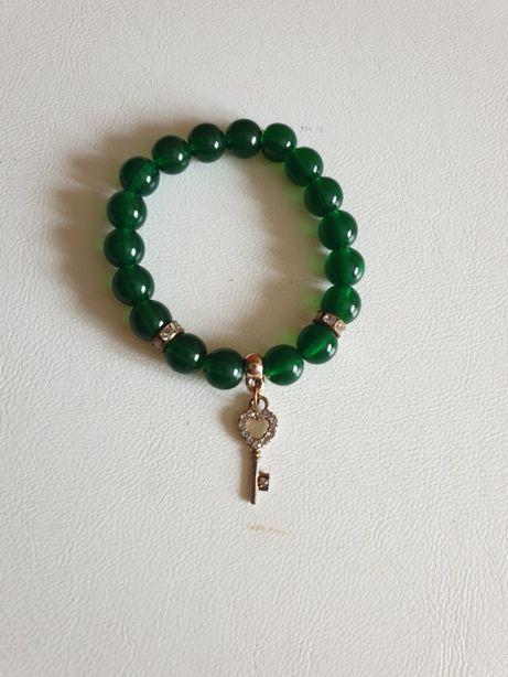 Новый Зеленый браслет золото ключик